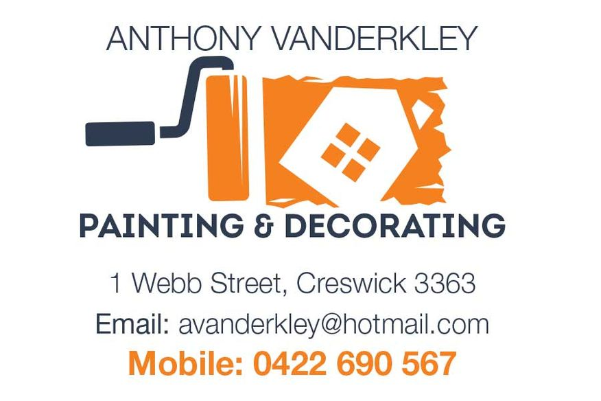 Tony Vanderkley   Painting and Decorating and Contracting