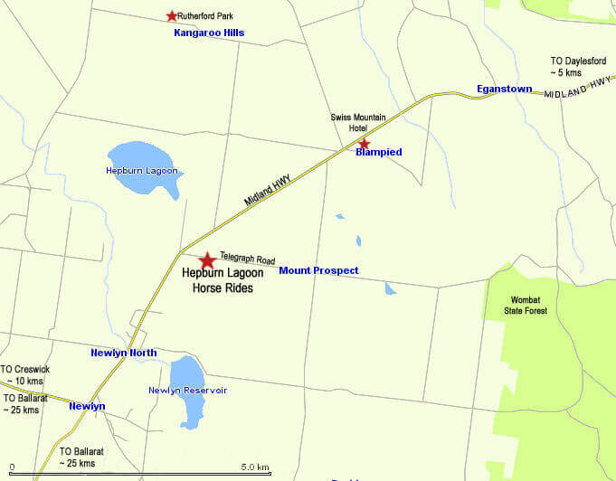 Hepburn Lagoon Trail Rides MAP