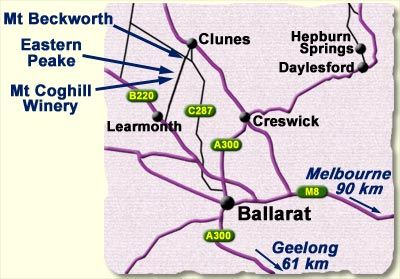 Mount Coghill map