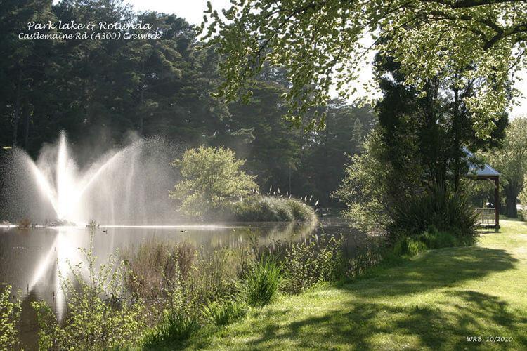 Park Lake Fountain and Rotunda