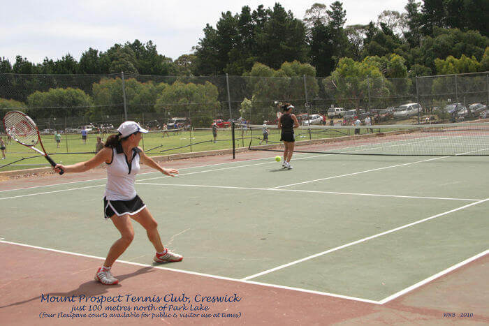 Tennis girls Creswick