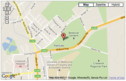 Tennis in Creswick map